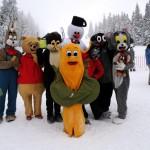 Maskoti v zime